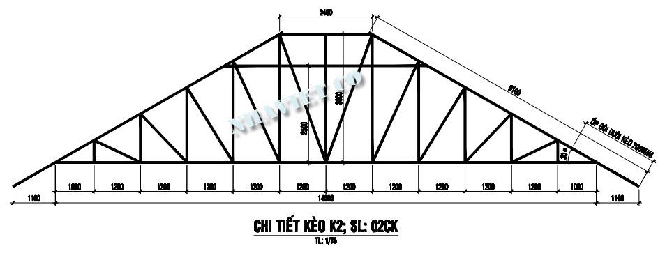 kết cấu khung kèo 2 lớp