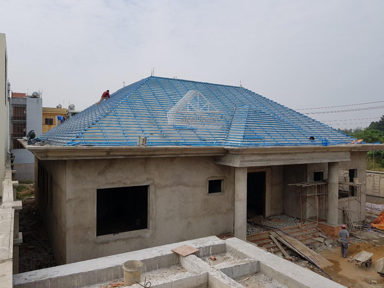 kết cấu mái bê tông steeltruss