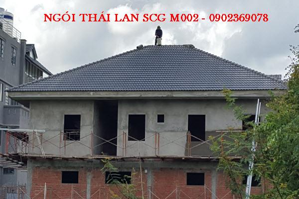 công trình mái ngói thái lan scg