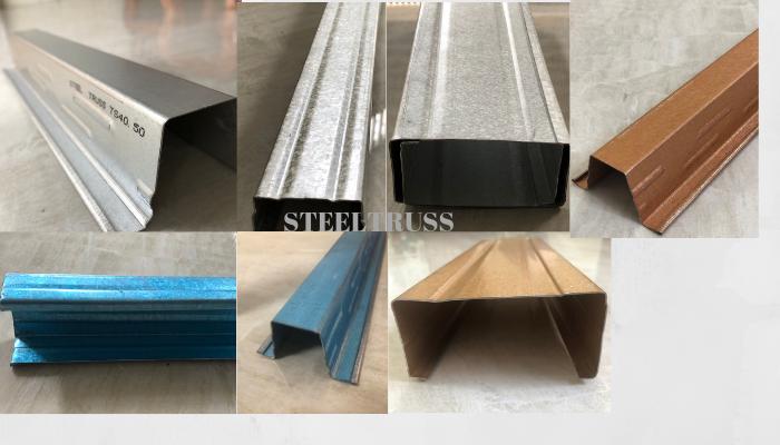 các loại vật tư khung thép mái ngói steeltruss