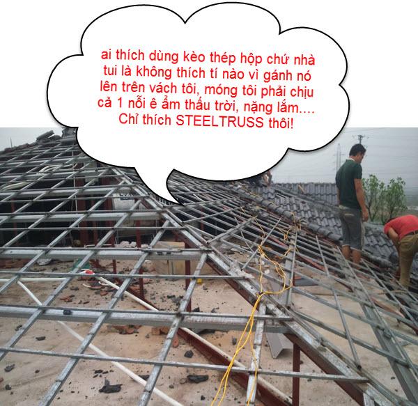 giá thành khung kèo thép mái tôn so với mái ngói